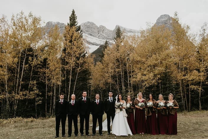 Brittany and Briggs' bridal party