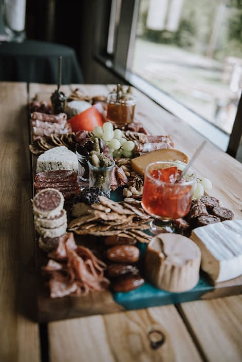 Charcuterie board for Canyon Ski Resort Open House 2019.
