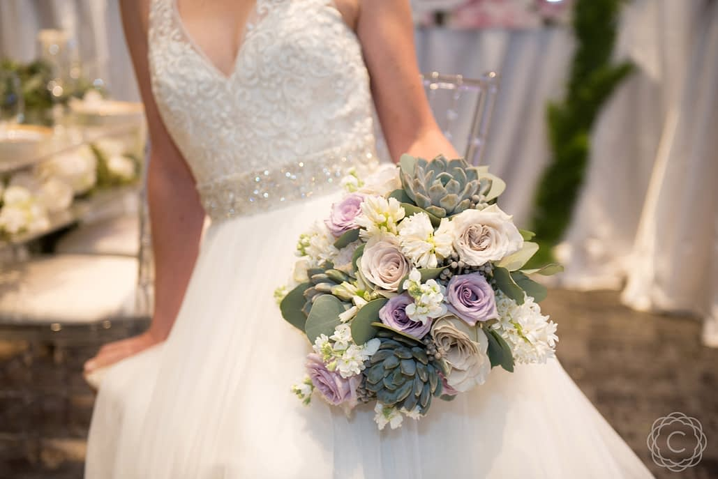 Compact-Bridal-Bouquet-in-Grey-and-Lavender