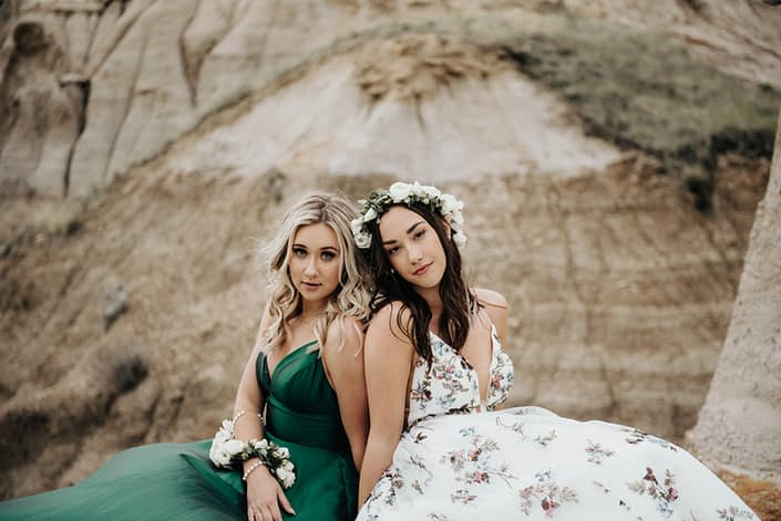 grad corsage and flower crown; Sydney, Isabelle, 2020